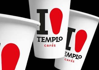 Diseños de vasos Cafés Templo